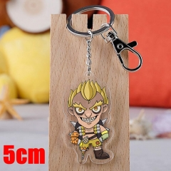 Overwatch JunkRat Game Pendant Key Ring Transparent Anime Acrylic Keychain