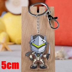 Overwatch Genji Game Pendant Key Ring Transparent Anime Acrylic Keychain