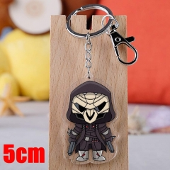 Overwatch Reaper Game Pendant Key Ring Transparent Anime Acrylic Keychain