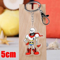 Undertale Papyrus Game Pendant Key Ring Transparent Anime Acrylic Keychain