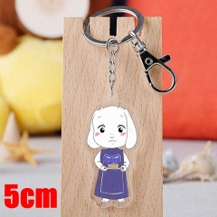 Undertale Toriel Game Pendant Key Ring Transparent Anime Acrylic Keychain