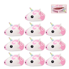 Unicorn Cosplay Cartoon Pocket Bag Coin Purse Anime Plush Wallet (10pcs/set)