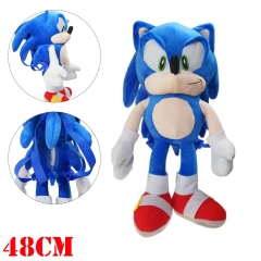 Sonic Cosplay Game Cute For Children Plush Backpack Bag