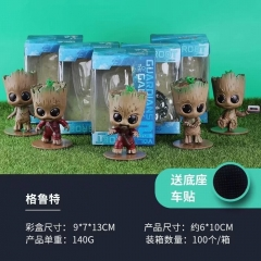 Guardians of the Galaxy Groot Decoration Car Collection Model Toy Statue Anime PVC Action Figure (5pcs/set)