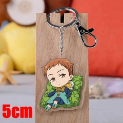 The Seven Deadly Sins King Cartoon Pendant Key Ring Transparent Anime Acrylic Keychain