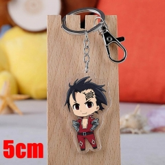 The Seven Deadly Sins Zeldris Cartoon Pendant Key Ring Transparent Anime Acrylic Keychain