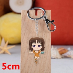 The Seven Deadly Sins Diane Cartoon Pendant Key Ring Transparent Anime Acrylic Keychain