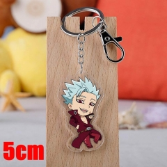 The Seven Deadly Sins Ban Cartoon Pendant Key Ring Transparent Anime Acrylic Keychain