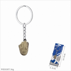 Guardians of the Galaxy Movie Groot Cosplay Cartoon Decoration Key Pendant Alloy Anime Keychain
