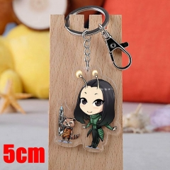 Marvel Comics Guardians of the Galaxy Movie Pendant Key Ring Transparent Anime Acrylic Keychain
