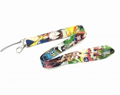 One Piece Cartoon Long Style Lanyard Anime Phone Strap