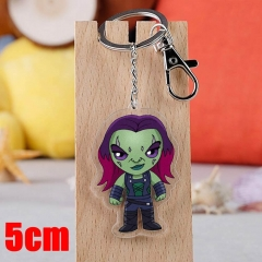 Marvel Comics Guardians of the Galaxy Gamora Movie Pendant Key Ring Transparent Anime Acrylic Keychain