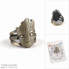 Guardians of the Galaxy Movie Groot Cosplay Cartoon Decoration Finger Hollow Shape Anime Ring