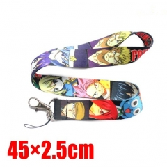 Fairy Tail Cartoon Long Style Lanyard Anime Phone Strap