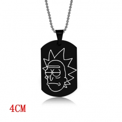 Rick and Morty Cosplay Decoration Alloy Anime Necklace Fashion Cool Design Necklace