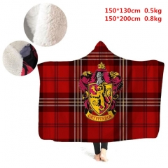 2 Sizes Colorful Harry Potter Cartoon Pattern Flannel Blanket Home Plush Anime Blanket