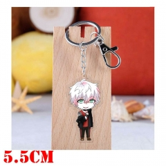 Mystic Messenger Unknown Game Pendant Key Ring Transparent Anime Acrylic Keychain