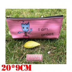 Marvel Comics Guardians of the Galaxy Movie Groot Cosplay Cartoon Zipper PU Pen Bag Students Anime Pencil Bags
