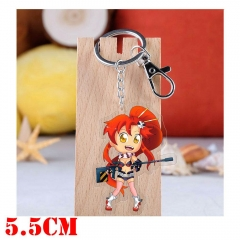 Tengen Toppa Gurren Lagann Yoko Cartoon Pendant Key Ring Transparent Anime Acrylic Keychain