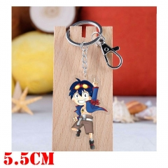 Tengen Toppa Gurren Lagann Simon Cartoon Pendant Key Ring Transparent Anime Acrylic Keychain