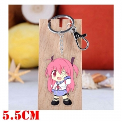 Angel Beats Yui Cartoon Pendant Key Ring Transparent Anime Acrylic Keychain