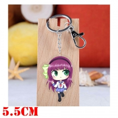 Angel Beats Nakamura Yuri Cartoon Pendant Key Ring Transparent Anime Acrylic Keychain