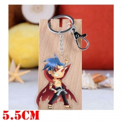 Tengen Toppa Gurren Lagann Kamina Cartoon Pendant Key Ring Transparent Anime Acrylic Keychain