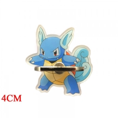 Pokemon Wartortle Cartoon Cellphone Stand Wholesale Anime Acrylic Ring Phone Holder