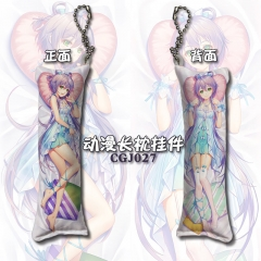Vocaloid Cosplay Cartoon Design Decoration Key Ring Anime Square Pillow Pendant Keychain