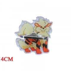 Pokemon Arcanine Cartoon Cellphone Stand Wholesale Anime Acrylic Ring Phone Holder