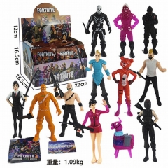 24pcs/set Fortnite Cartoon PVC Toys Wholesale Anime Action Figure 11cm