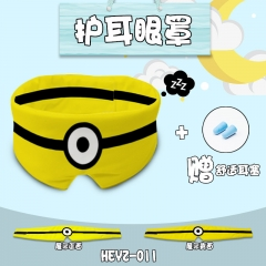 Despicable Me Cosplay Cartoon Cute Design For Sleeping Anime Eyepatch with Earplug