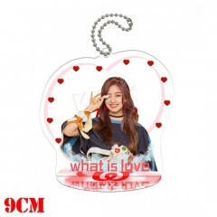 Korean Star Twice Anime Double Sided Acrylic Standing Decoration Keychain