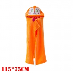 Anpanman Cartoon Cloak Orange Cosplay Costume Anime Blanket