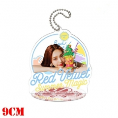Korean Star Red Velvet Anime Double Sided Acrylic Standing Decoration Keychain