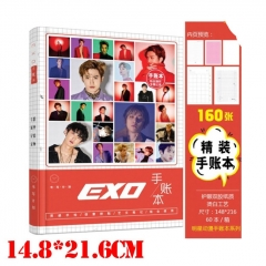 High Quality K-POP EXO Anime Chinese Version Portable Notebook Fashion Teenager Notebook