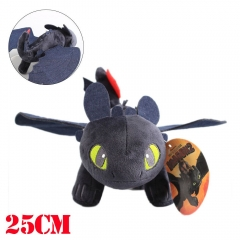 How to Train Your Dragon Movie Toothless Plush Doll 25cm