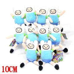 Adventure Time With Finn And Jake Anime Plush Keychain Pendant (10pcs/set)