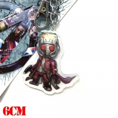 Marvel Comics Guardians of the Galaxy Star-Lord Movie Pendant Key Ring Anime Acrylic Keychain