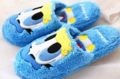 Mickey Mouse and Donald Duck Cartoon Kawaii Indoor Shoes Warm Anime Plush Slipper