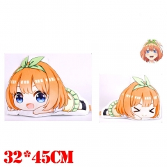 The Quintessential Quintuplets Nakono Yotsuba Plush Stuffed Bolster Doll Kawaii Anime Pillow