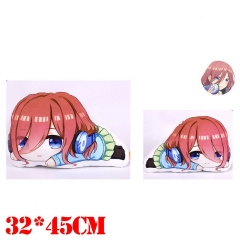 The Quintessential Quintuplets Nakano Miku Plush Stuffed Bolster Doll Kawaii Anime Pillow