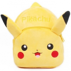 Pokemon Pikachu Kawaii Cartoon Bag For Kids Anime Plush Backpack Bags