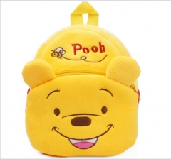Disney Pooh Bear Kawaii Cartoon Bag Wholesale Anime Plush Backpack Bags for Kids