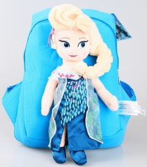 Frozen Elsa Kawaii Cartoon Bag Anime Plush Backpack Bags for Kids