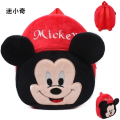 Disney Mickey Mouse Kawaii Cartoon Bag Wholesale Anime Plush Backpack Bags for Kids