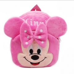 Disney Minnie Mouse Pink Kawaii Cartoon Bag Wholesale Anime Plush Backpack Bags for Kids
