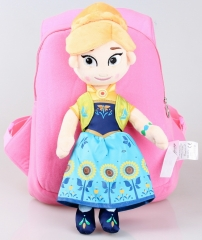 Frozen Anna Kawaii Cartoon Bag Anime Plush Backpack Bags for Kids