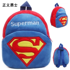 Superman Kawaii Cartoon Bag Wholesale Anime Plush Backpack Bags for Kids