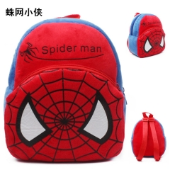 Spider Man Kawaii Cartoon Bag Wholesale Anime Plush Backpack Bags for Kids